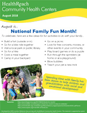 National Family Fun Month